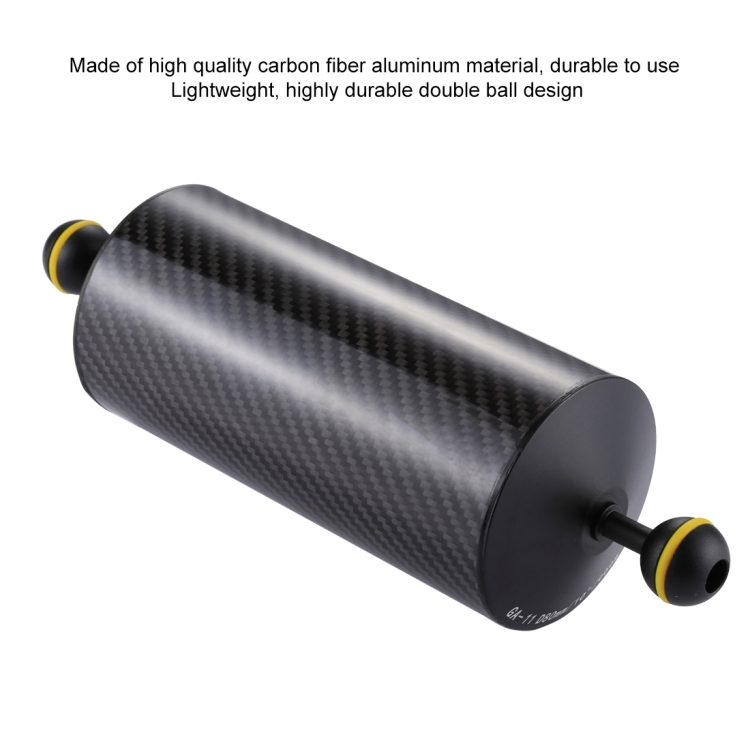 900g Durable Buoyancy 10.8 inch 27.5cm Length 80mm Diameter Dual Balls Carbon Fiber Floating Arm 25mm Ball Diameter