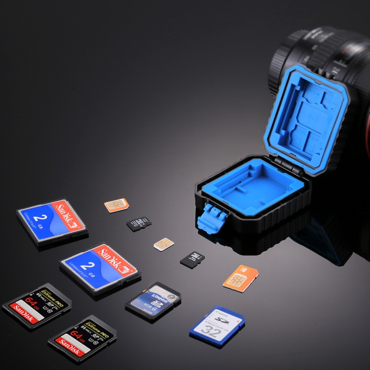 Фото PULUZ 11 in 1 Memory Card Case for 3SIM + 2XQD + 2CF + 2TF + 2SD Card. Купить в РФ