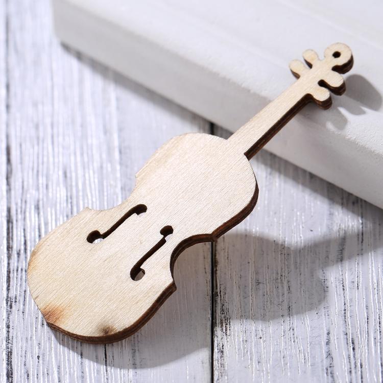 10pcs DIY wooden Carving Violin Craft DIY Pendant Decorative Item Shoot Prop