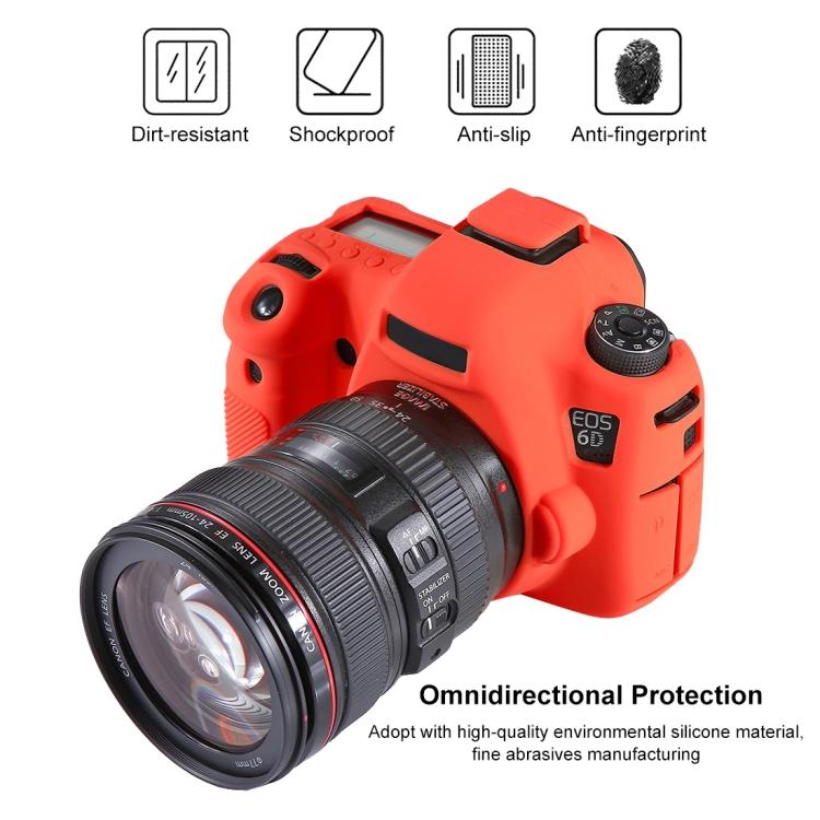 Color : Black Soft Silicone Protective Case for Canon EOS 6D Durable