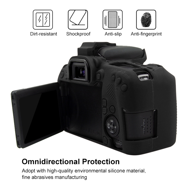SKU : Pu7115a Perfect Home Convenience Durable Soft Silicone Protective Case for Canon EOS 77D Durable