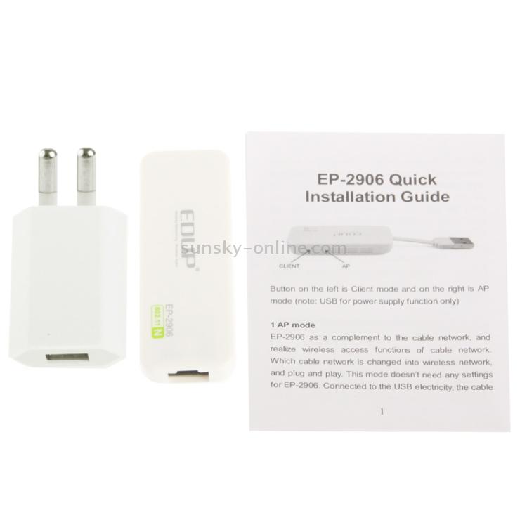 SUNSKY - EDUP EP-2906 Mini 150Mbps Wireless AP / Client