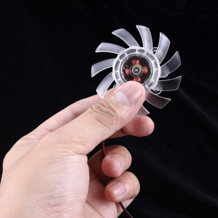 Computer Fans /& Cooling Screw Distance: 10mm x 12mm x 33mm x 23mm Transparent Computer Components 60mm 2-pin VGA Card Cooling Fan
