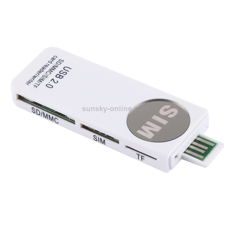 2X USB 2.0 Memory Card Reader Writer Adaptor for SD MMC SDHC TF Card 64 QII