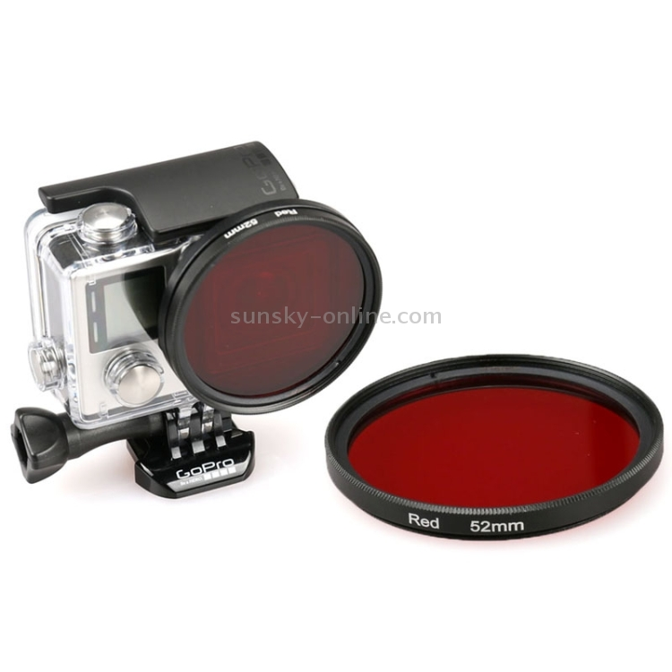 Camera Accessories 52mm Round Circle Color UV Lens Filter for GoPro Hero 4//3+ Lens Accessories Red Color : Yellow