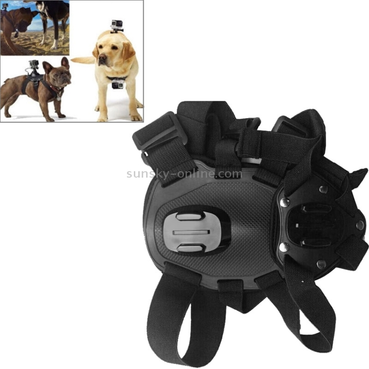 Dog Fetch Hound Harness Adjustable Chest Strap Belt Mount for GoPro New Hero //HERO6 //5//5 Session //4 Session //4//3 Xiaoyi,OSMO Pocket and Other Action Cameras with GOPRO Adapter Accessorie //3//2 //1