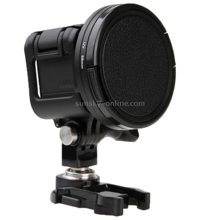 HUIFANGBU 58mm Round Circle UV Lens Filter with Cap for GoPro HERO5 Session //HERO4 Session//Hero Session