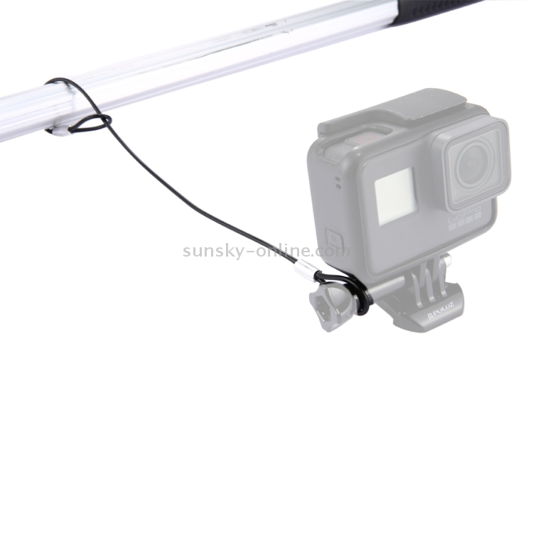 Stainless Steel Lanyard//Tether with Screw for GoPro New Hero //HERO6 // 5//5 Session //4//3+ //3//2 //1 Black for DJI Gopro Action Camera Color : Silver Lanyard Length: About 31.5cm