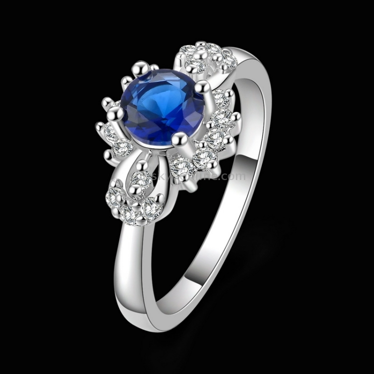 SUNSKY - Fashionable Zircon Encrusted Silver Plated Finger