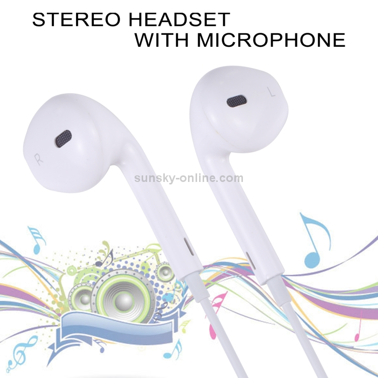 sunsky earpods with wired control and mic. Black Bedroom Furniture Sets. Home Design Ideas