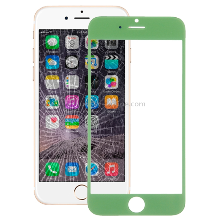 iphone ip address sunsky front screen outer glass lens for iphone 6 green 3952