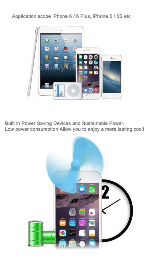 Sunsky 3 5 Inch Fashion Portable 8 Pin Usb Phone Mini Fan