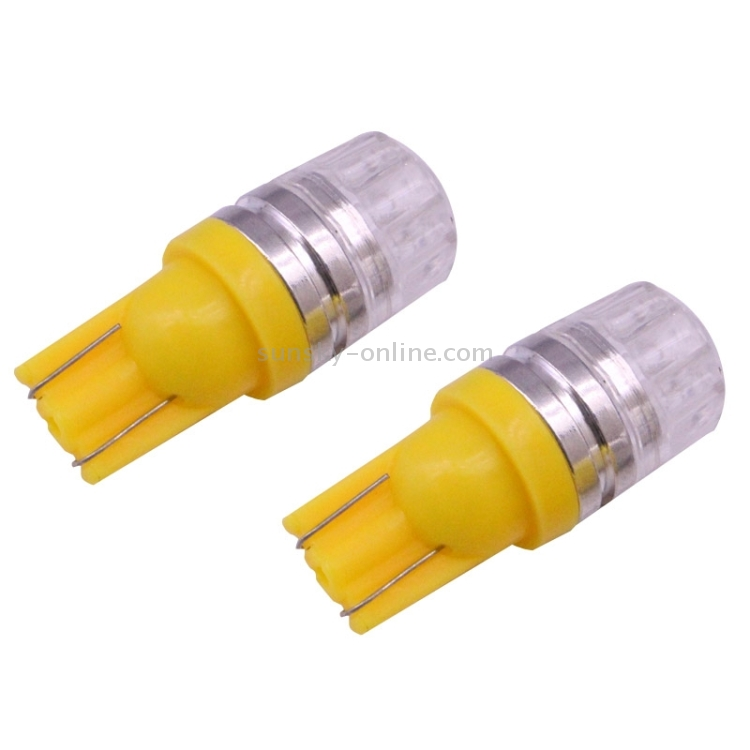 SUNSKY - 2 PCS T10 1.5W 60LM 1 LED Yellow COB LED Brake ...