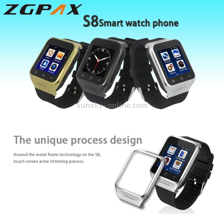 SUNSKY - ZGPAX S8 Smart Watch Phone, 512MB+4GB