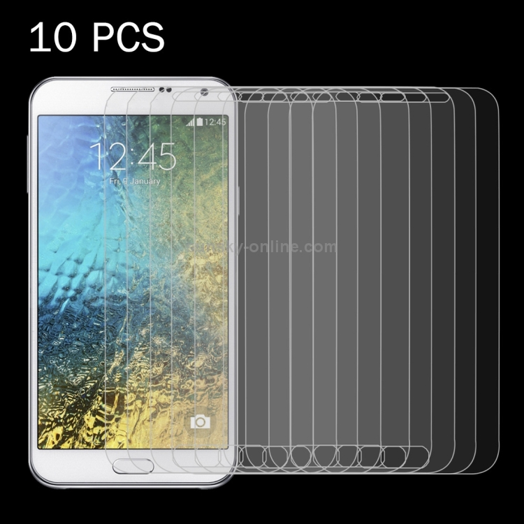 Premium Tempered Glass Screen Film 100 PCS for Galaxy E5 E500 0.26mm 9H Surface Hardness 2.5D Explosion-Proof Tempered Glass Screen Film Anti-Scratch Screen Protector