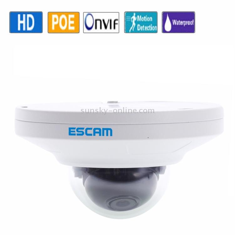 Sunsky Escam Hd3200 Ti 1080p Poe H 264 Onvif 3 6mm Dome Waterproof Camera White