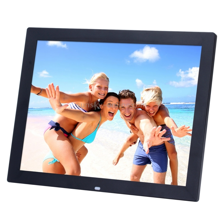 LoMe Digital Photo Frame Android,10 LED WiFi Electronic Screen Photo Frame for Music Mp3 Video Mp4 Business Advertisin with Remote Control,Black