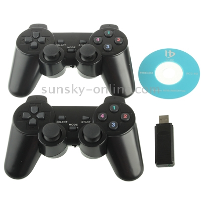 SUNSKY - 2 4GHz RF Wireless Game Pad / USB Twins Controller with