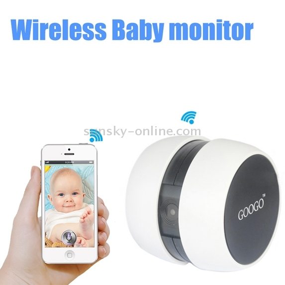 sunsky googo gc1 portable baby monitor wifi camera for ios android smartphone tablet pc. Black Bedroom Furniture Sets. Home Design Ideas