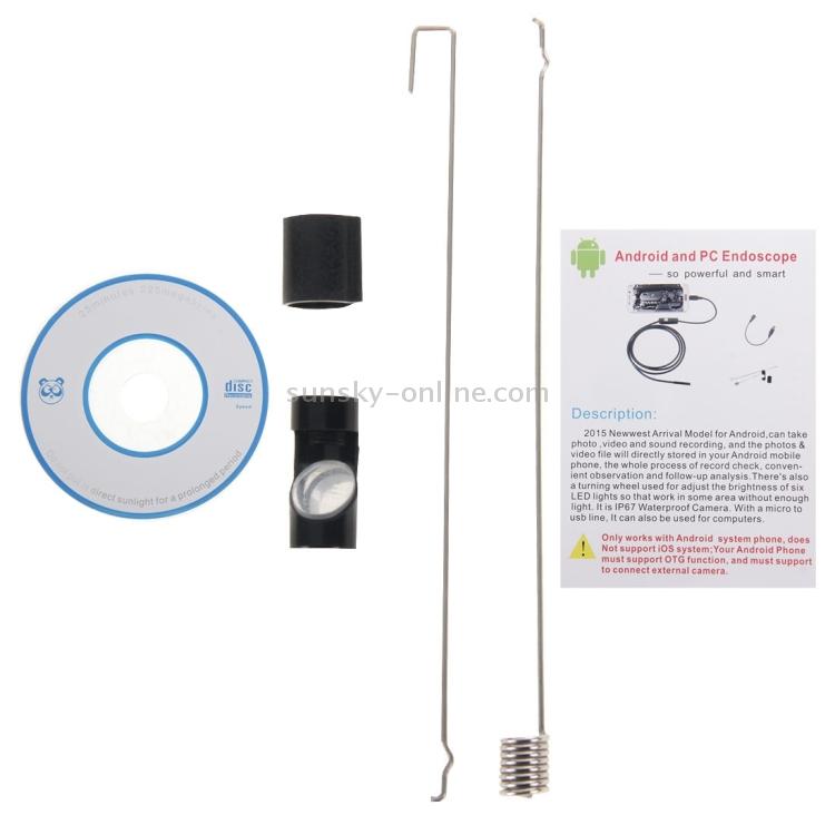 SUNSKY - AN97 Waterproof Micro USB Endoscope Snake Tube Inspection