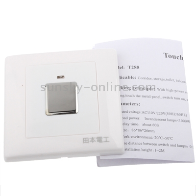 Sunsky T288 Three Wire System Wall Mount Touch Sensor Light Switch White