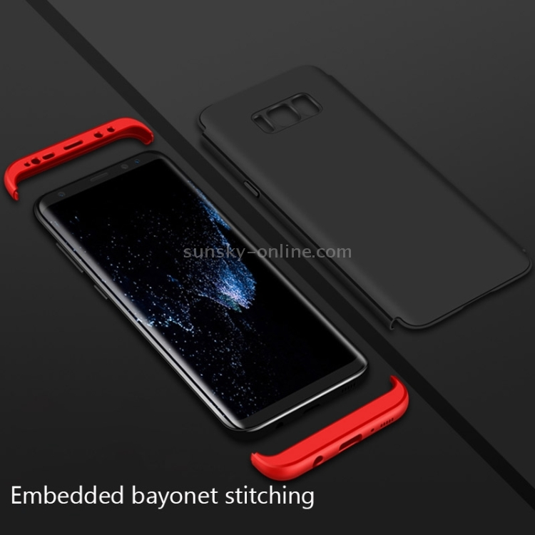 Фото GKK for Samsung Galaxy S8 PC Three - paragraph Shield 360 Degrees Full Coverage Protective Case Back Cover(Black). Купить в РФ
