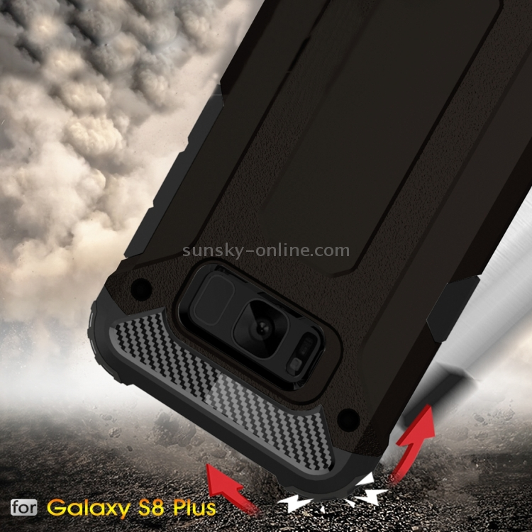 Фото For Samsung Galaxy S8 + / G955 Tough Armor TPU + PC Combination Case(Black). Купить в РФ