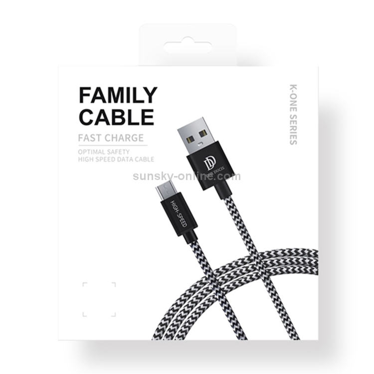 Tinffy 1 Pcs Braided Wire Double Elbow Plug Data Cable Charge Cable for Android