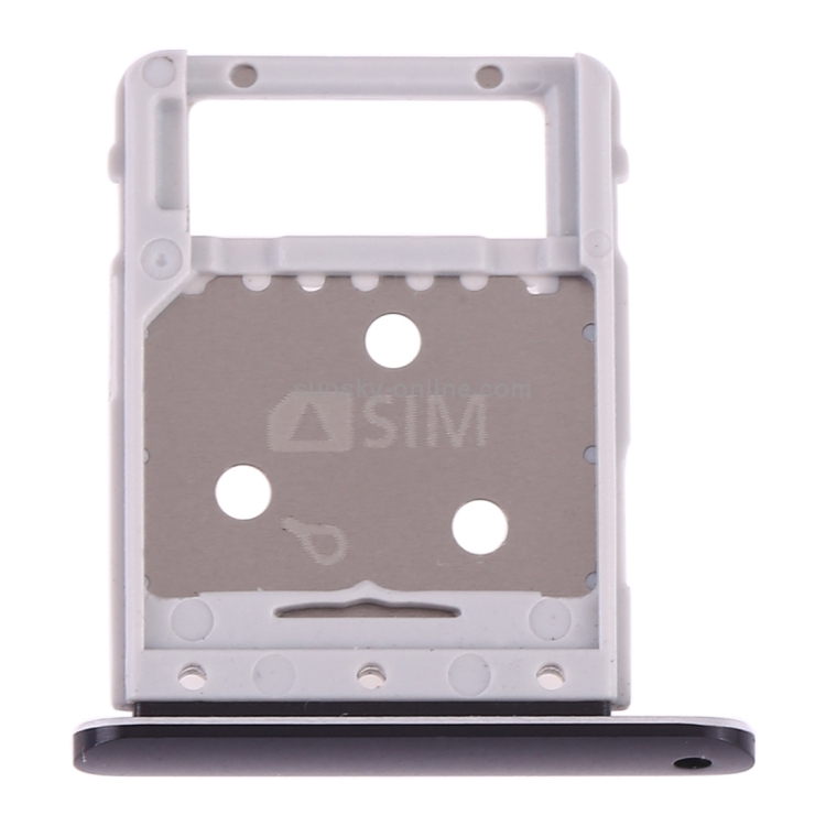 Silver Micro SD Card Tray for Galaxy Tab S4 10.5 T835 Repair Flex Cable ZHANGTAI Sparts Parts XINGCHNE SIM Card Tray Color : Black