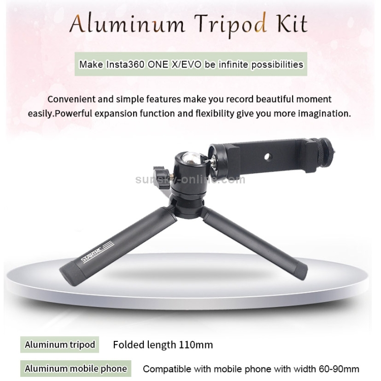 3 in 1 Movable Handle Tabale Tripod Telescoping Selfie Stick Expansion Bracket Compatible for OSMO Action Mobile 3 Type B