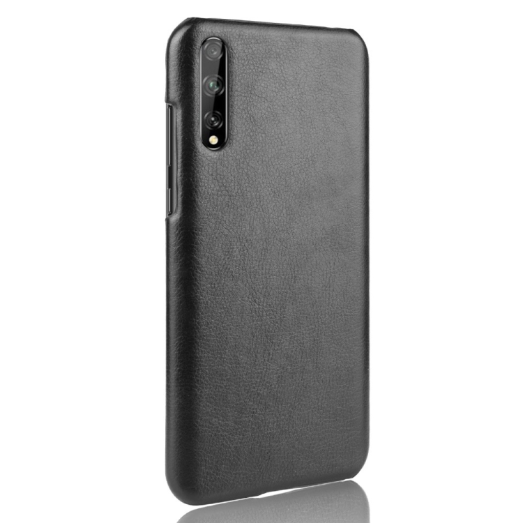For Huawei Y8p Shockproof Litchi Texture PC + PU Case(Black)