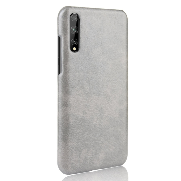 For Huawei Y8p Shockproof Litchi Texture PC + PU Case(Gray)