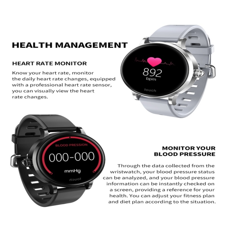S9 1 04 inch IPS Color Screen Women Smart Watch IP67 Waterproof,Silicone  Watchband,Support Call Reminder /Heart Rate Monitoring/Blood Pressure