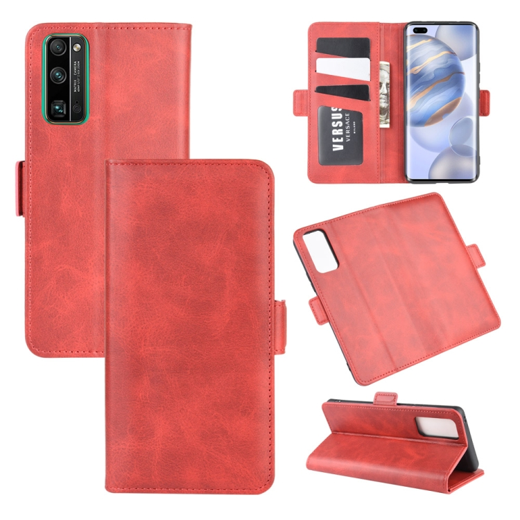 For Huawei Honor 30 Pro Dual-side Magnetic Buckle Horizontal Flip Leather Case with Holder & Card Slots & Wallet(Red)