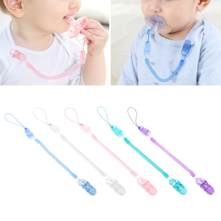 Baby Dummy Pacifier Toddler Dummy Soother Nipple Shield Chain Clip Holder 2018