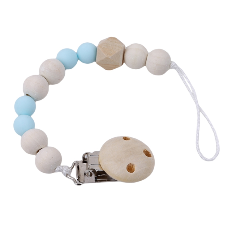Baby Pacifier Clip Chain Wooden Holder Leash Strap Nipple Holder For Infant S6