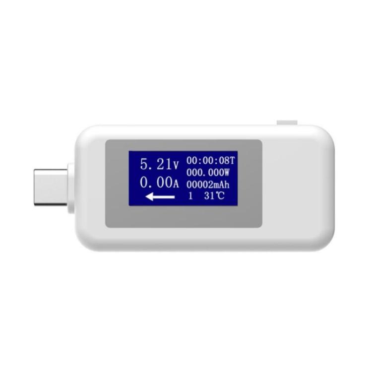 Type C Power Meter Testers  2 in 1 LCD Digital USB C Voltmeter Ammeter Detector