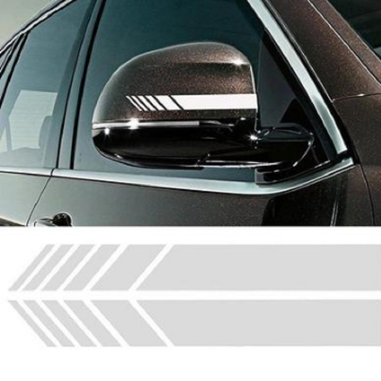 """A Set Black 35.43/"""" RACING ST Car Side Skirts PVC Sticker Sports Racing Decals"""