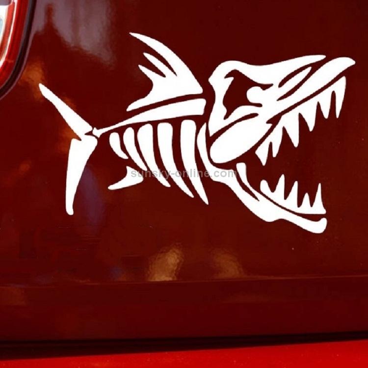 Fish Bone Pattern Motorcycle Body Decal Sticker Decoration Oil Tank Waterproof