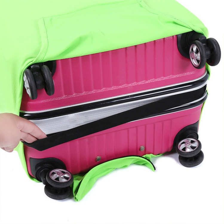 Scuba Diving HeartBeat Travel Luggage Cover Suitcase Protector Washable Zipper Baggage Cover