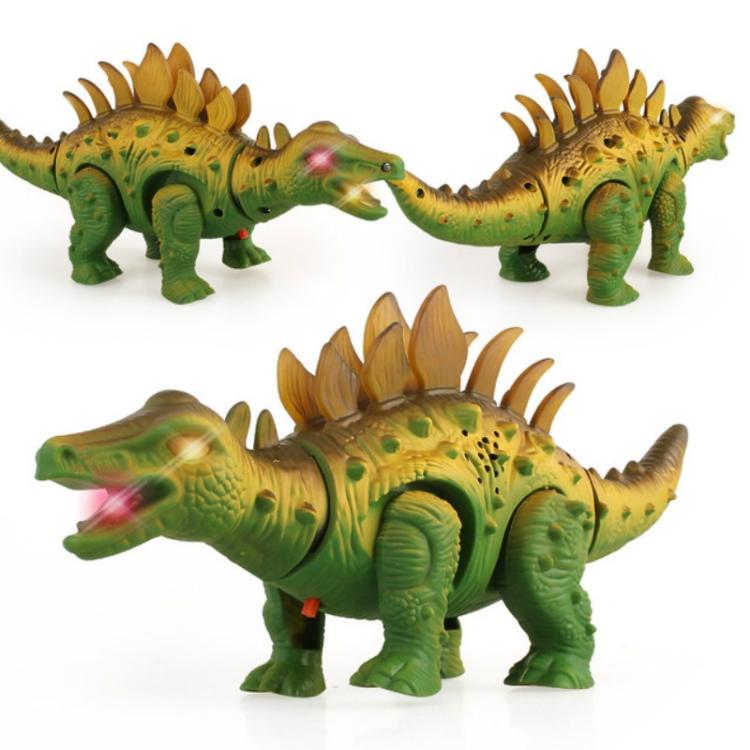 For Kids Gift Dinosaur Model Toy Electric Walking Stegosaurus Light Sound Toys