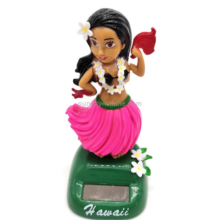 Xmas Gift Solar Powered Dancing Hula Girl Swinging Bobble Car Decor Toy Lovely