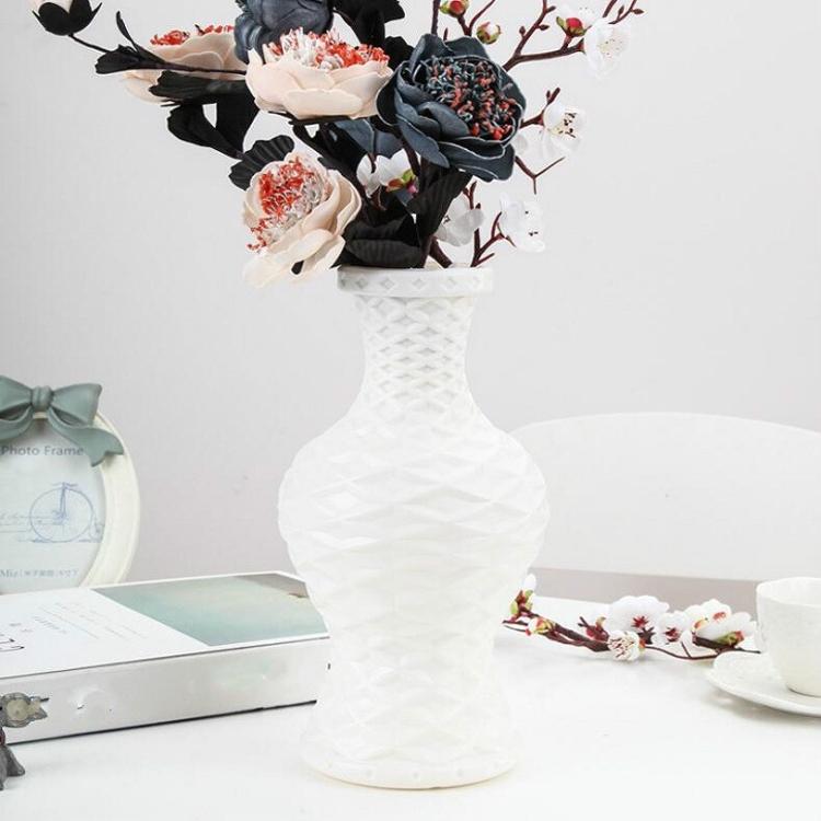 Sunsky Plastic Vase Dry And Wet Flower Arrangement Container Home Decoration Milk White