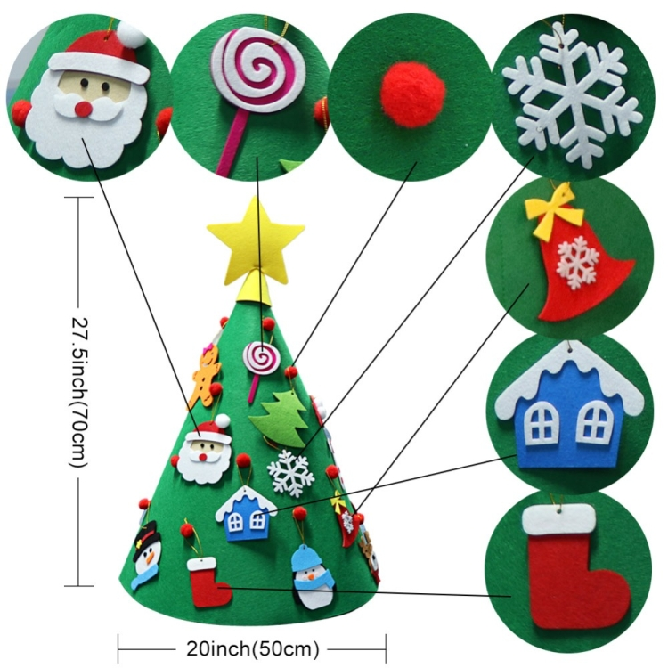 1pc christmas wooden pendant hanging tree home ornament xmas decoration r CC
