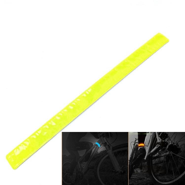 4PCS Bicycle Reflective Tape Leg Arms Strap Band Safety Light Running Warning