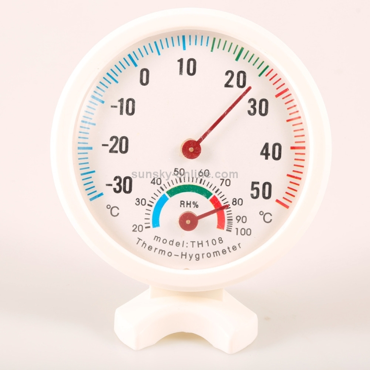 Humidity Thermometer,Round Indoor Outdoor Hygrometer Humidity Thermometer Temperature Meter Gauge Thermo TH108