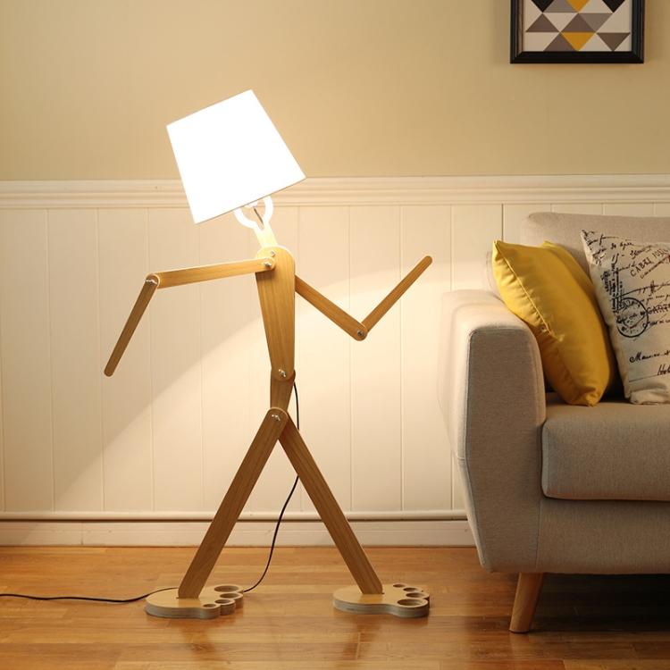 Solid Wood Lamps Bedroom Living Room