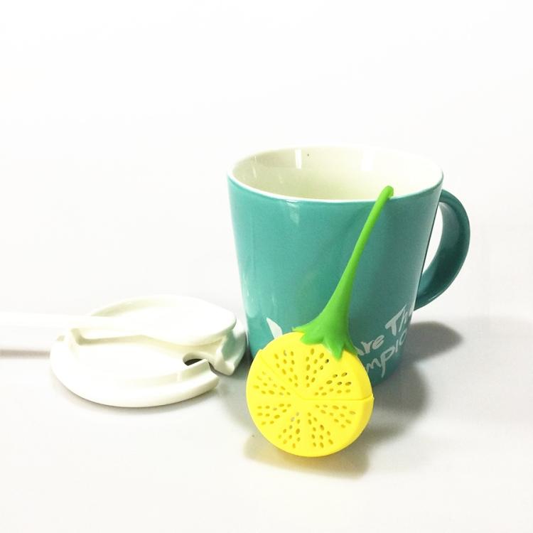 Silicon Strawberry Design Tea Leaf Strainer Herbal Spice Infuser Tea Filter Gift