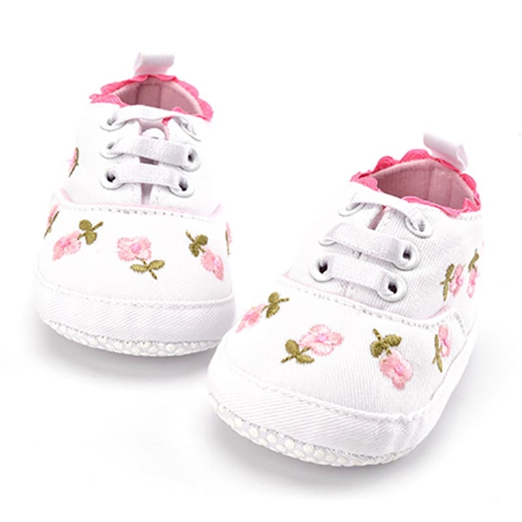 Newly Infant Girls Embroidery Flower Toddler Soft First Walkers Shoes Sneakers