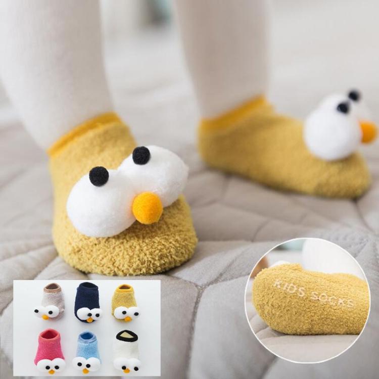 New Baby Indoor Floor Socks Non-slip Boys Girl Shoes Big Eyes Cute Toddler Socks